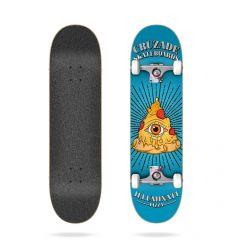 "Cruzade Illuminaty Pizza 31.85"" Complete skateboard"