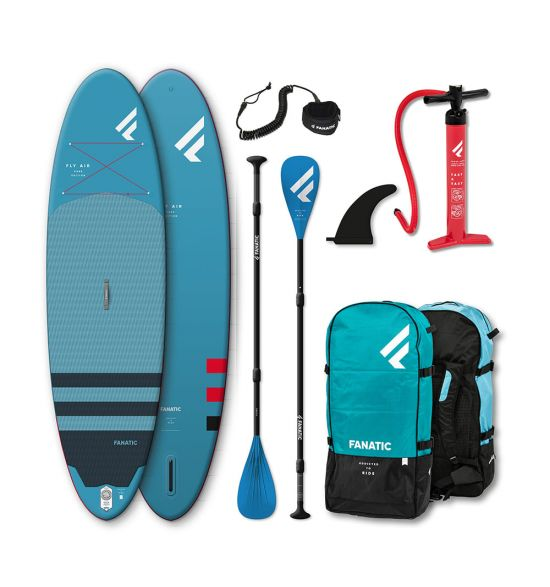 "Fanatic Fly Air 10'8"" Blue 2021 Inflatable SUP package"
