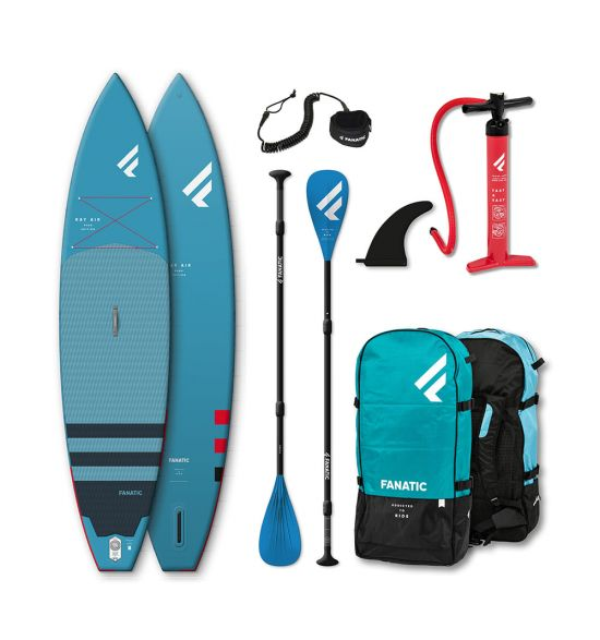 """Fanatic Ray Air 11'6"""" Blue 2021 Inflatable SUP package"""